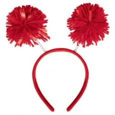 Red Pom Pom Headbopper Head Accessorie