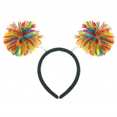 Rainbow Party Supplies - Pom Pom Headbopper