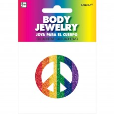 Feeling Groovy & 60's Party Supplies - Peace Sign Body Jewellery