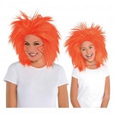 Orange Crazy Wig Head Accessorie