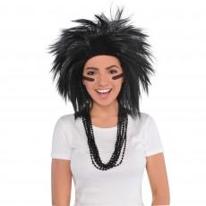 Black Crazy Wig Head Accessorie