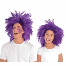 Purple Crazy Wig Head Accessorie