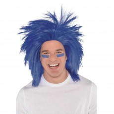 Blue Crazy Wig Head Accessorie