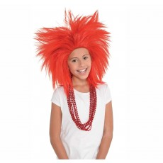 Red Crazy Wig Head Accessorie