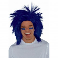 Blue Navy Crazy Wig Head Accessorie