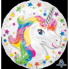 Unicorn Fantasy Party Decorations - Foil Balloon Insiders Rainbow Unicorn