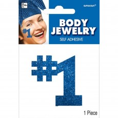 Blue Party Supplies - Body Jewellery
