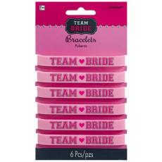 Hens Night Rubber Bracelets Team Bride Favours Pack of 6