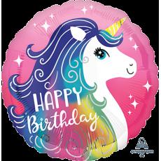 Unicorn Fantasy Party Decorations - Foil Balloon Unicorn Pink HX