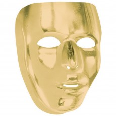 Gold Full Face Mask Head Accessorie