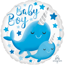 Baby Shower - General Standard HX Narwhal Foil Balloon