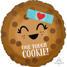 Round Misc Occasion Standard HX One Tough Cookie! Foil Balloon 45cm