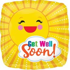 Get Well Party Decorations - Foil Balloon Sunbeam Get Well Soon!