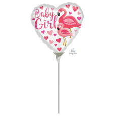 Heart Baby Shower - General Flamingo Baby Boy Shaped Balloon 22cm