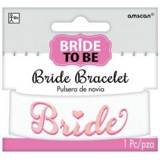 Bachelorette Pink Elegant Bride Bracelet Costume Accessorie