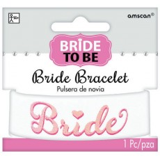 Bridal Shower Pink Bride to Be Elegant Glitter Bracelet Costume Accessorie