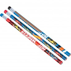 Hot Wheels Wild Racer Pencil Favours Pack of 12