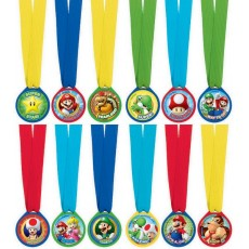 Super Mario Party Supplies - Mini Medals Awards