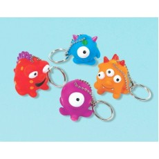 Happy Birthday Monster Keychain Favours Pack of 12