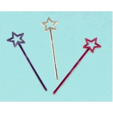 Multi Coloured Star Wand Favours Pack of 12