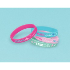 The Little Mermaid Assorted Colours Rubber Bracelets Favours