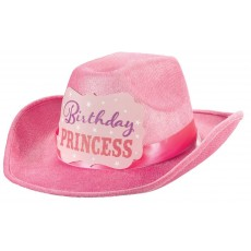 Cowboy & Western Birthday Princess Flocked Cowboy Hat Costume Accessorie