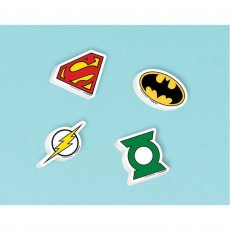 Justice League Erasers Favours Pack of 12