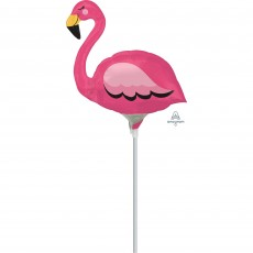 Hawaiian Luau Mini Flamingo Shaped Balloon