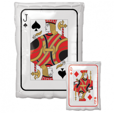 Casino Night Junior Shape XL Roll the Dice Jack & Queen Playing Card Shaped Balloon