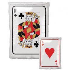 Casino Night Junior Shape XL Roll the Dice King & Ace Playing Card Shaped Balloon