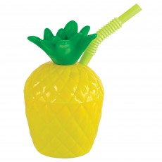 Hawaiian Luau Party Supplies - Plastic Cup Pineapple Sippy Cup