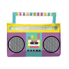 Awesome 80's SuperShape Boombox Shaped Balloon 68cm x 55cm