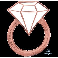 Blush Wedding SuperShape XL Wedding Ring Shaped Balloon 60cm x 76cm