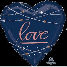 Heart Bridal Shower Navy Bride Jumbo HX Love Shaped Balloon 71cm