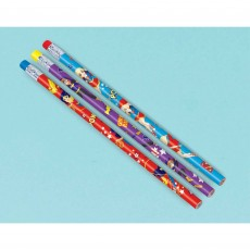 Super Hero Girls Pencils with Eraser End Favours