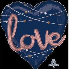 Heart Bridal Shower Navy Bride Mutli-Balloon Love Shaped Balloon 91cm