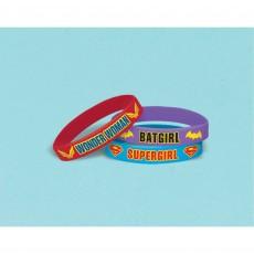 Super Hero Girls Rubber Bracelets Favours
