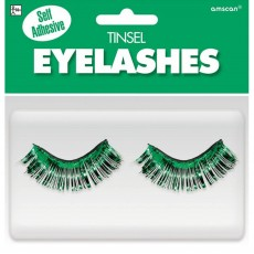 Green Tinsel Eyelashes Costume Accessorie