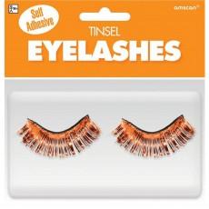 Orange Party Supplies - Tinsel Eyelashes