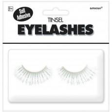 White Tinsel Eyelashes Head Accessorie