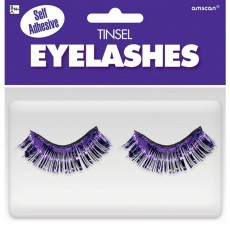 Purple Party Supplies - Tinsel Eyelashes