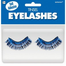 Blue Tinsel Eyelashes Head Accessorie