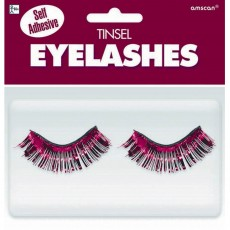 State of Origin Burgundy Tinsel Eyelashes Head Accessorie