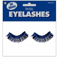 Blue Party Supplies - Tinsel Eyelashes Navy Blue