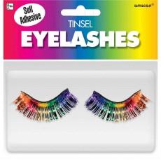 Rainbow Tinsel Eyelashes Head Accessorie