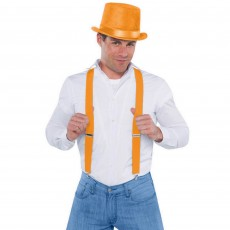 Orange Suspenders Costume Accessorie
