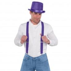 Purple Party Supplies - Suspenders