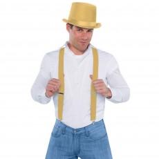 Gold Suspenders Costume Accessorie