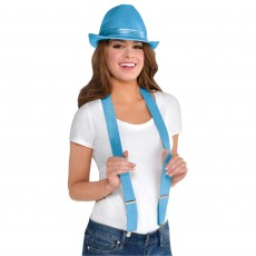 State of Origin Light Blue Suspenders Costume Accessorie