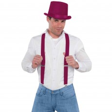 State of Origin Burgundy Suspenders Costume Accessorie
